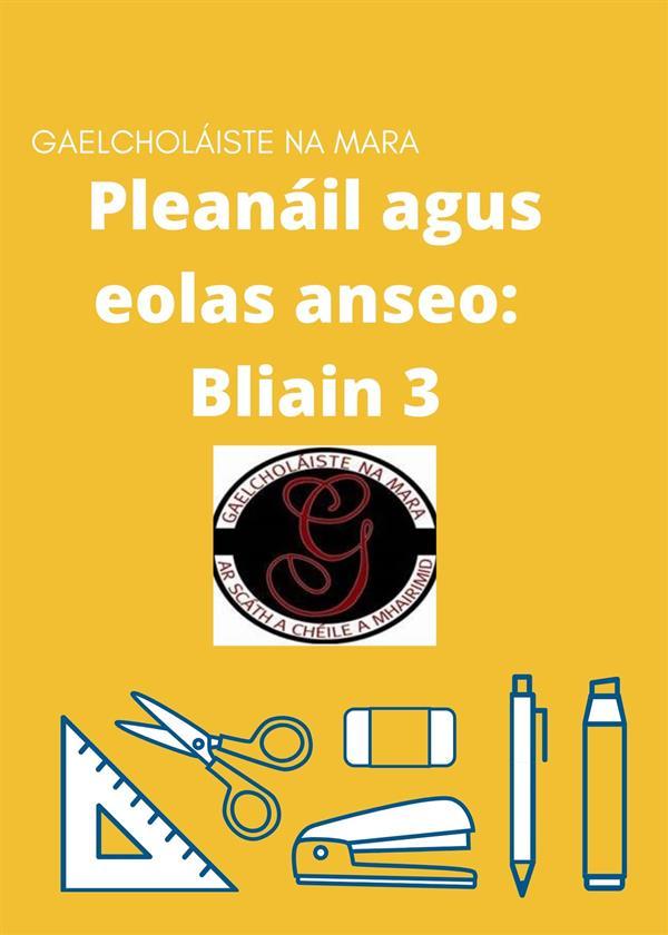 Pleanáil agus eolas-Bliain 3