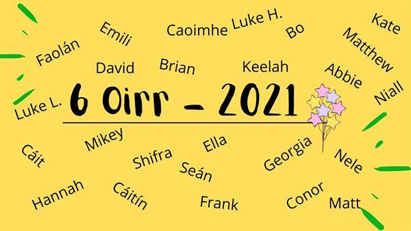 Gradaim Bliain 6 - 2021