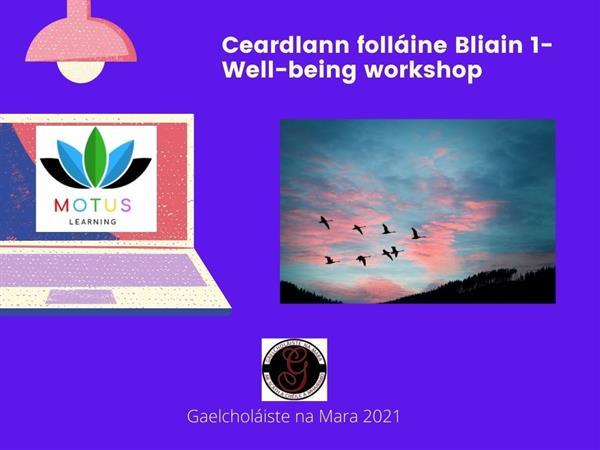 Ceardlann Folláine Bliain 1-Well-being workshop for Bliain 1